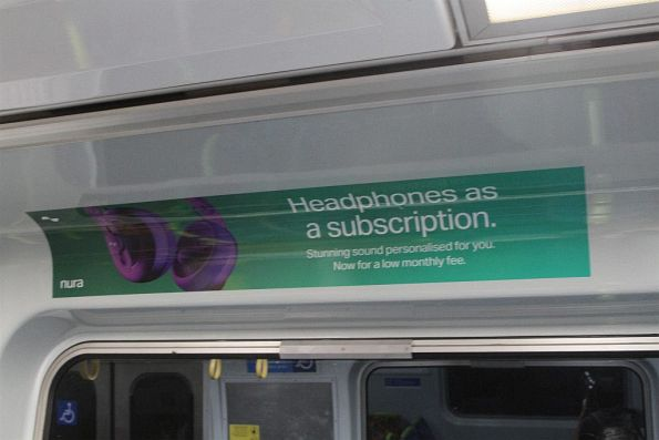 Latest techbro brain fart advertised onboard a Melbourne train -
