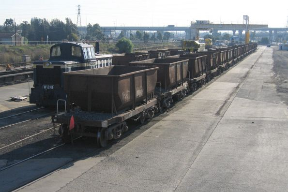 W241 and NN ballast hoppers at Creek Sidings