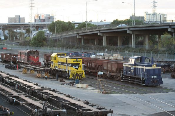 W241, SSR liveried T376 and GNRS liveried T373 at the Creek Sidings