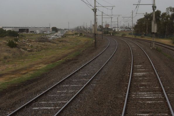 More partially resleepered track near Paisley
