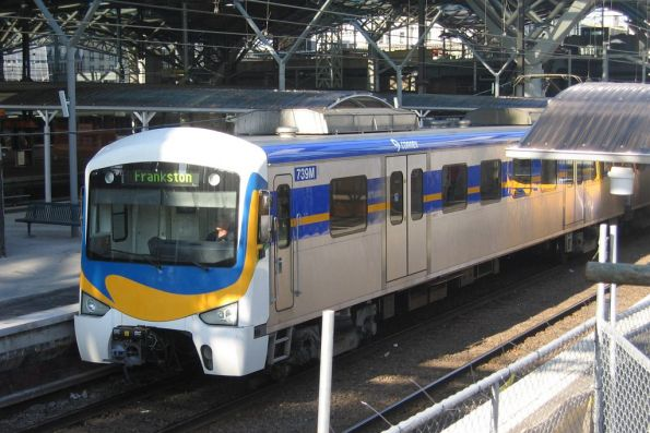 Siemens 739M on a down Frankston service at Spencer Street Station