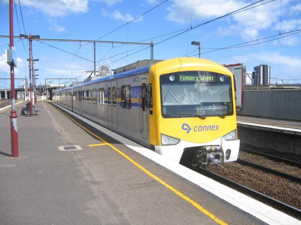 3-car Siemens 715M-2508T-716M at North Melbourne bound for Flinders Street