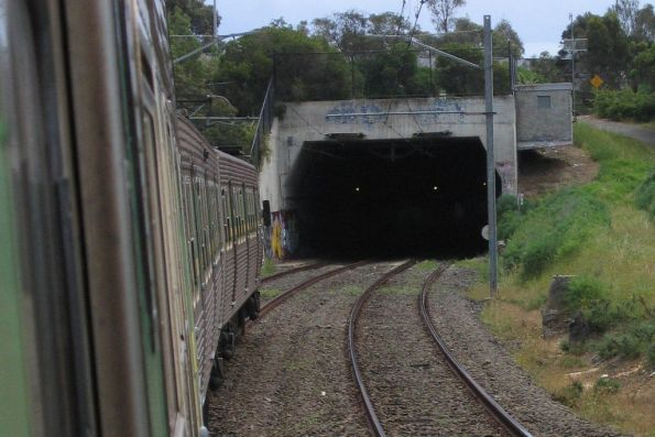 Monash Freeway underpass for the Glen Waverley line