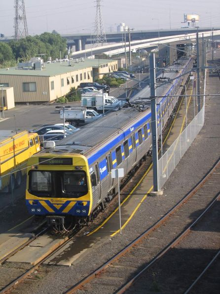 EDI Comeng departs the train wash at North Melbourne