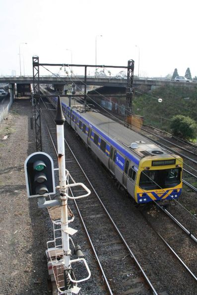 Comeng on an up Sydenham train at West Footscray