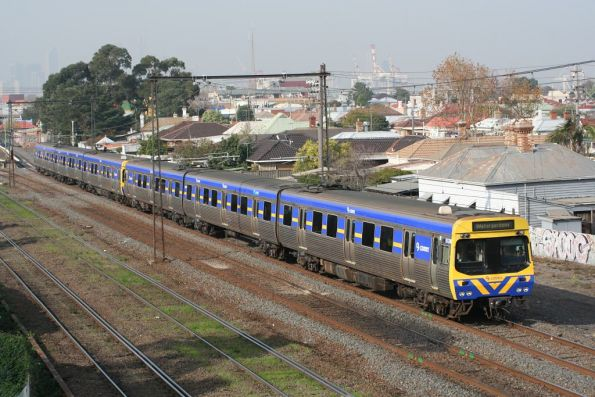 Comeng on a down Sydenham train at West Footscray