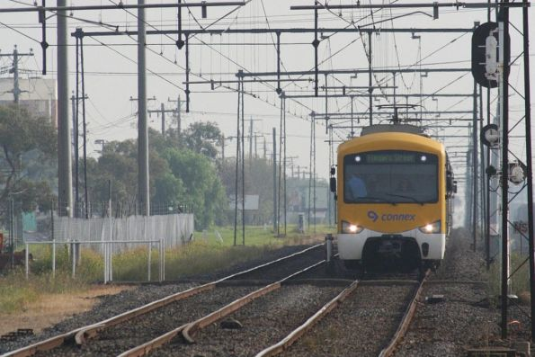 Siemens on an up Sydenham train at West Footscray