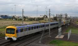 Siemens crosses over to the Altona line at Laverton Junction