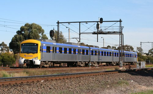 3-car Siemens on the up at Newport South