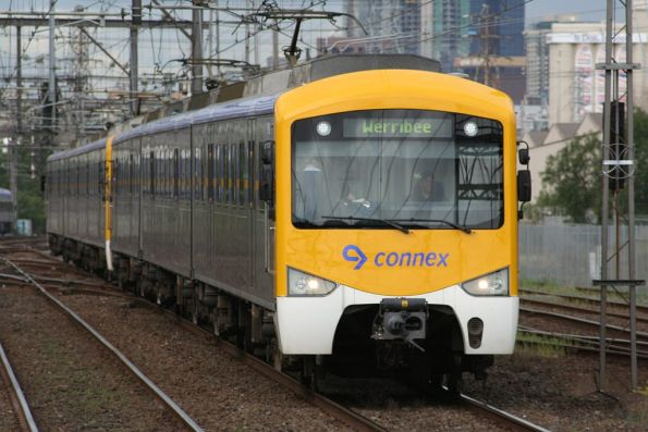 Siemens train on a down Werribee service at South Kensington