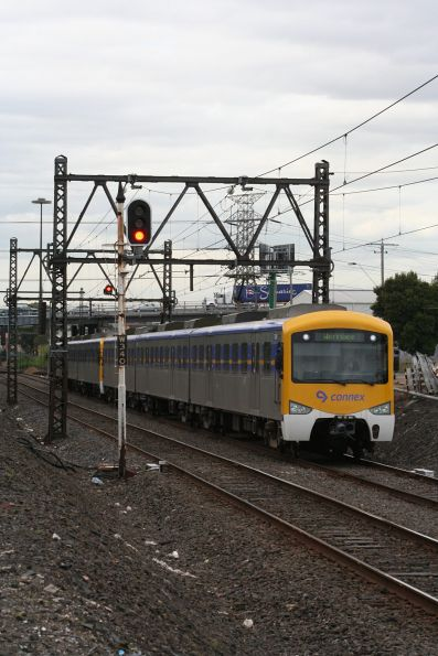 Siemens train on a down Werribee service at Spotswood