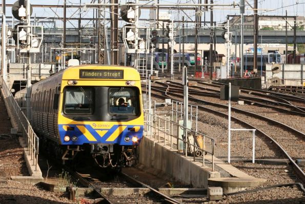 EDI Comeng emerges from the City Loop at Southern Cross