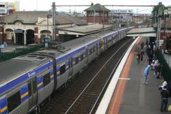 Comeng train on an up Werribee service at Footscray