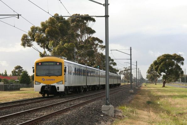 Siemens train forms an up Watergardens service out of Sydenham