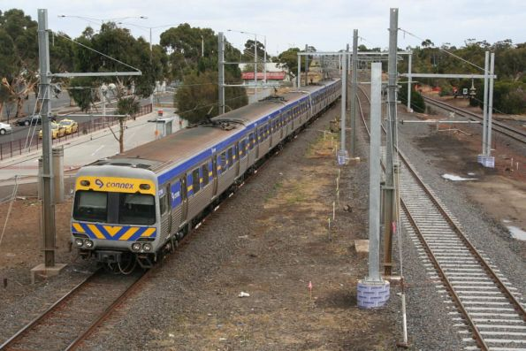 Alstom Comeng on the down departs Laverton