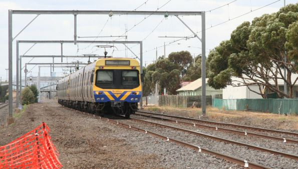 EDI Comeng on the up arrives into Laverton