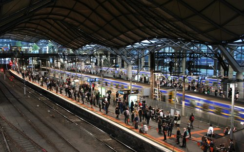 Commuter rush at Southern Cross
