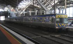 3-car Alstom Comeng 679M at Southern Cross