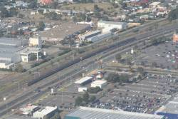 Pair of 6-car Comeng trains stabled in Siding C at Broadmeadows
