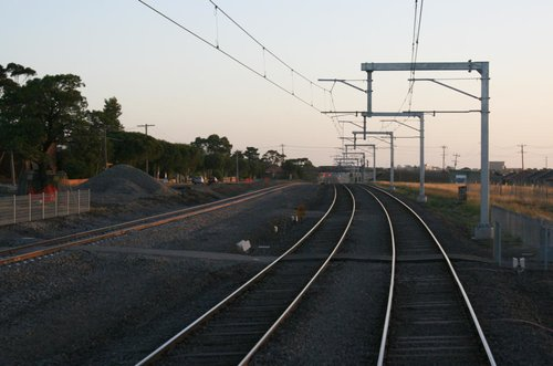 Slew of the standard gauge line for Coolaroo station complete