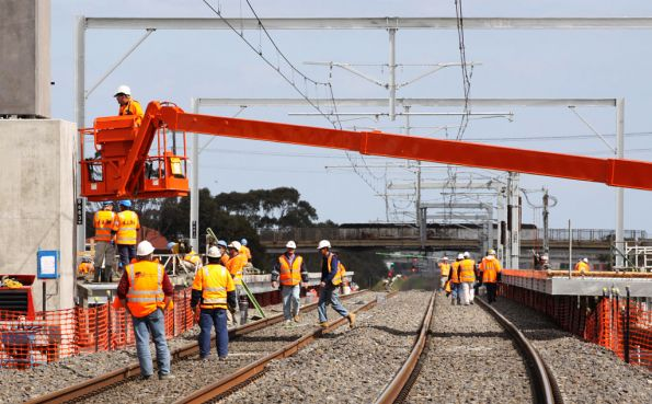 Side platforms getting worked on at Coolaroo