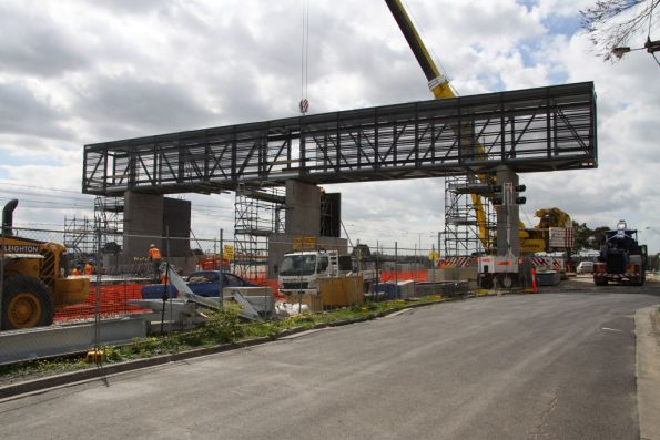 Southern face of the new footbridge at Coolaroo