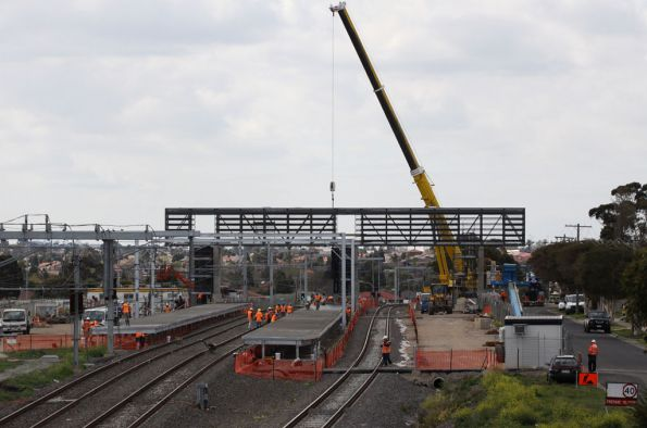 New footbridge in place at Coolaroo station