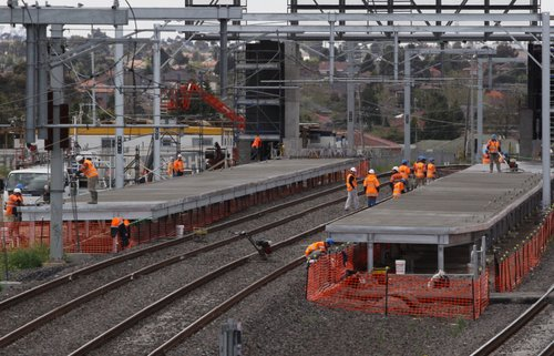 New platforms being concreted at Coolaroo