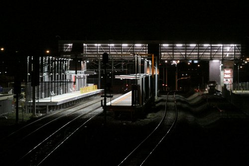 Coolaroo - all lit up and waiting to go, but waiting for the June 2010 timetable change
