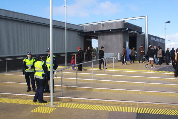A Melbourne record for the number of police at an unmanned station?