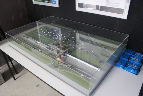 Scale model of the station