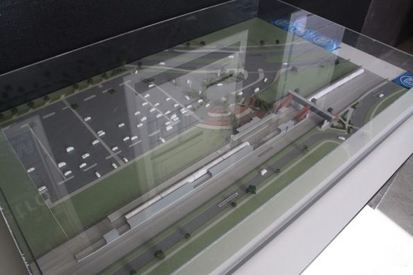 Scale model of Coolaroo station