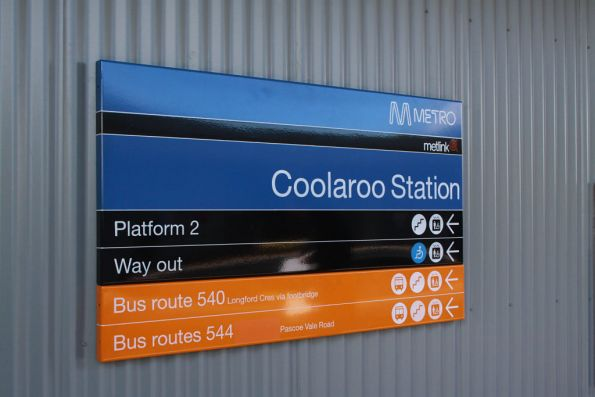 Coolaroo station sign
