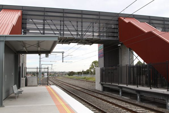 Looking down the line at Coolaroo station