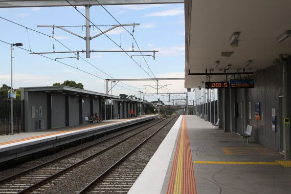 Looking up the line at Coolaroo station