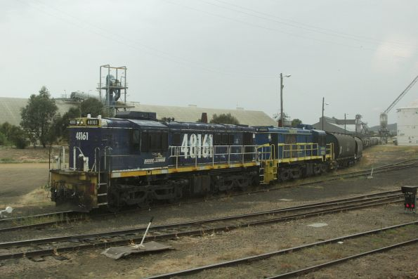 48161 and 48205 stabled on a grain train at Cootamundra