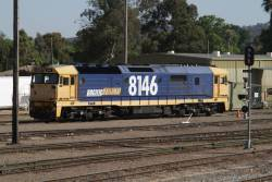 Pacific National 8146 stabled in the yard at Cootamundra
