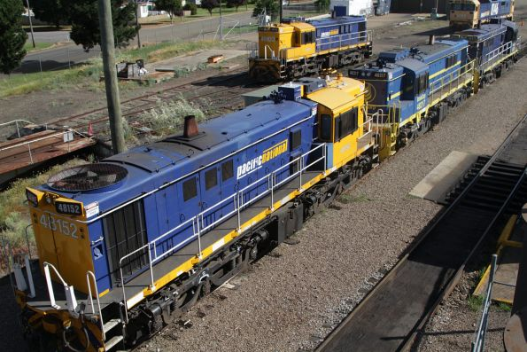 48152, 48217, 48215 stabled in the yard at Cootamundra