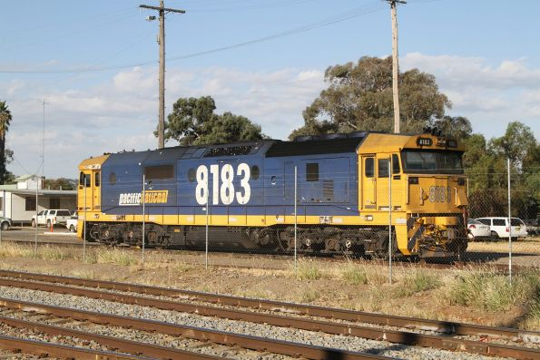 8183 stabled in the yard at Cootamundra