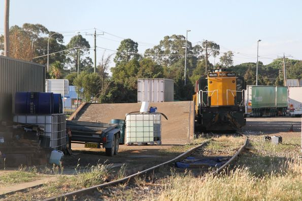 48s35 stabled in the container terminal at Cootamundra