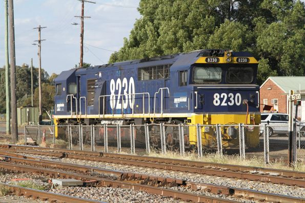 8230 stabled in the yard at Cootamundra