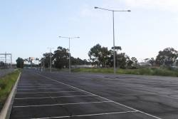 Empty car park at Albion station
