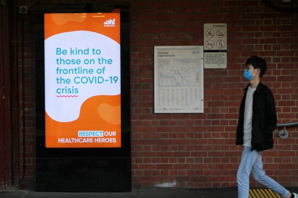 'Be kind to those on the frontline of the COVID-19 crisis' advertisement by ooh!Media