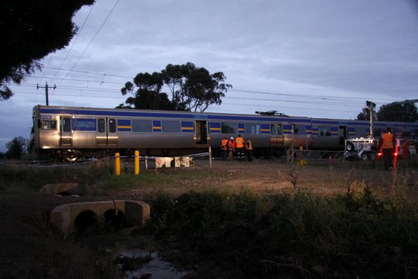 Leading carriages of the train