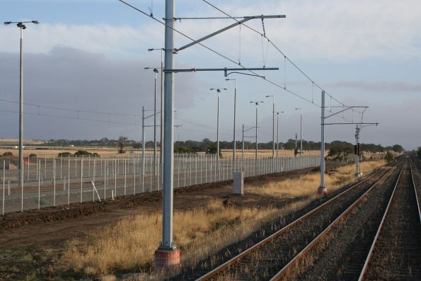 End of the overhead at Craigieburn, with only a single stabling siding originally constructed