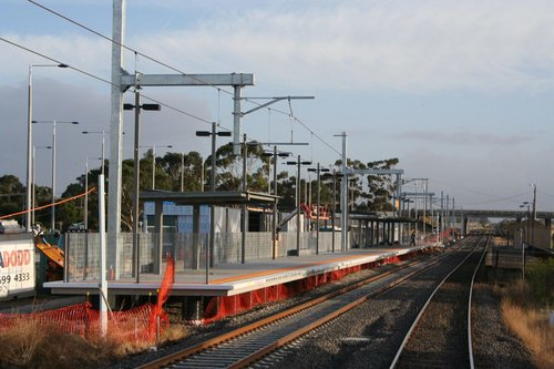 Work on the new platform at Craigieburn