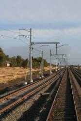 Overhead wires in place north of Roxburgh Park, but not beyond