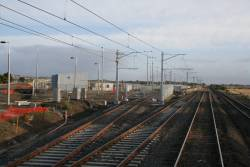 Work on the stabling yard at Craigieburn, only a single track initially provided