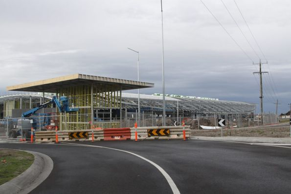 Entry to the new depot and workshops at Craigieburn Yard