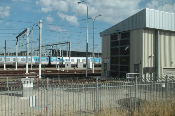 Entrance to the yet-to-be commissioned train wash at Craigieburn Yard